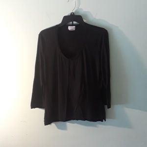 George stretch black shirt